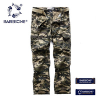 Rarebone Mens Cotton Outdoor Desert Camouflage Pants Cargo Military Pants Woodland Camouflage Pants Cargo Military Pants