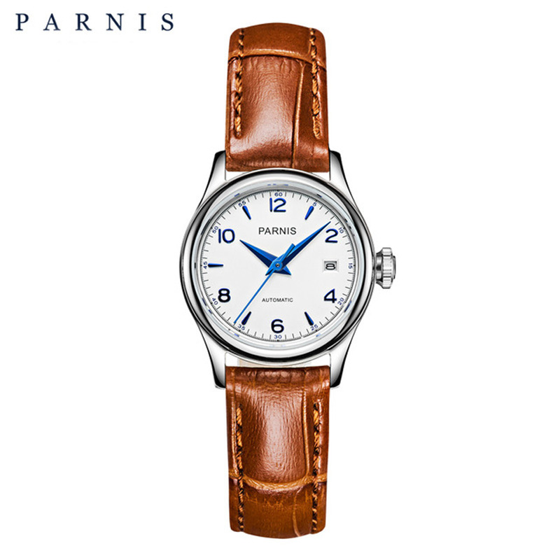 27mm Parnis Women Brand Luxury Mechanical Watches Casual Fashion Ladies Watches Sapphire Crystal Japan Miyota Movement