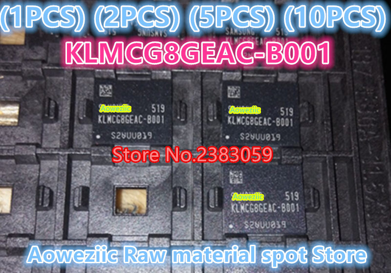 (1PCS) (2PCS) (5PCS) (10PCS) 100% New original KLMCG8GEAC-B001 BGA 64GB font memory IC chip  KLMCG8GEAC  B001 1pcs 2pcs 5pcs 10pcs 100% new original klmdgageac b001 bga 128gb emmc tablet or mobile storage chip klmdgageac b001