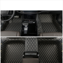 lsrtw2017 luxury leather car floor mat for audi a8 2018 2019 2020 accessories interior styling carpet rug covers stickers D5 цена