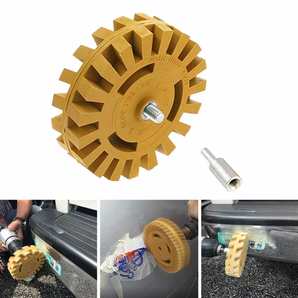 4 นิ้ว 100mm Power Drill อะแดปเตอร์ Decal Removal Anti Scratch ปฏิบัติ Pinstripe Quick Eraser ล้อยางที่มีประสิทธิภาพเรียบอัตโนมัติ