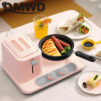 DMWD Breakfast Baking Machine Mini Toaster Omelette Frying Pan Electric Skillet Noodle Cooking Pot Toast Bread Oven Eggs Cooker