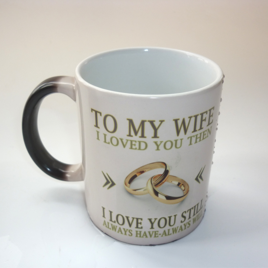 Best Gift For My Wife Part - 41: Online Shop To My Wife Gift, Wedding Anniversary Gift ,coffee Mug Magic  Color Changing Mug Best Gift For Your Wife | Aliexpress Mobile