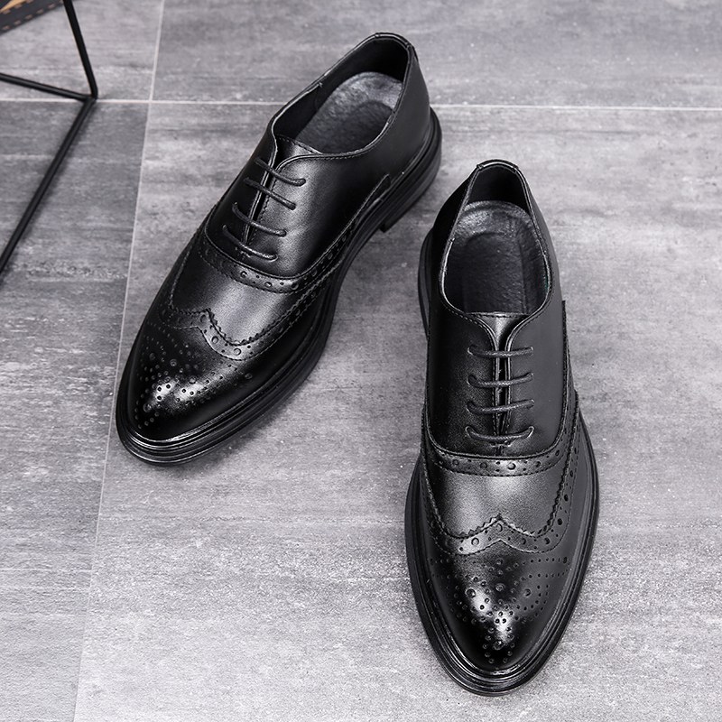 Desai Men Dress Shoes Simple Style Quality Men Oxford Shoes Lace-up Brand Men Formal Shoes Men Leather Business Shoes DS3019