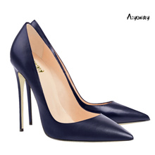 Aiyoway Classic Women Pumps Pointed Toe High Heel Shoes Autumn Spring Work & Career Ladies Party Thin Heels
