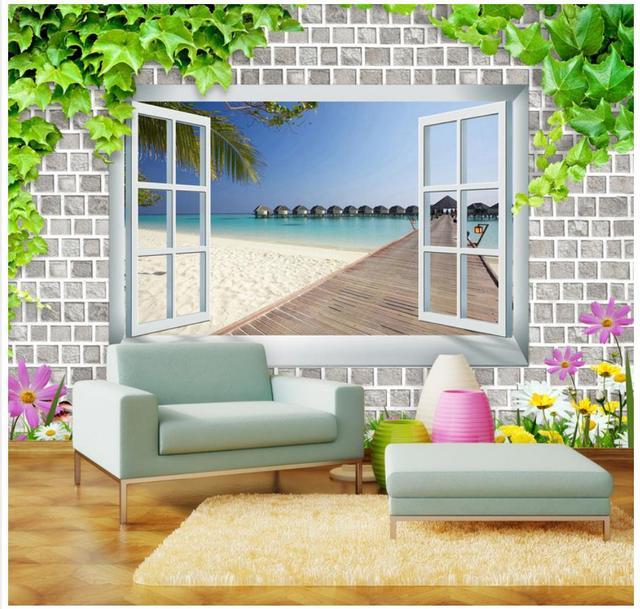 3d wall tiles for living room floral 3d wallpaper custom wall murals windows seaside landscape 3d tiles mural living