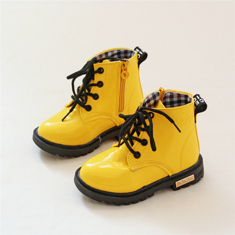 Spring Autumn Girl Kids Children S Shoes Boots Children Snow Boots Kid Padded Heel Soft Leather