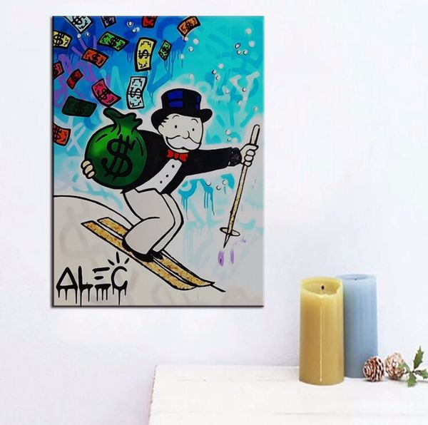 Free shipping hand painted popular's artworks on canvas for living room of bedroom unframed x-001