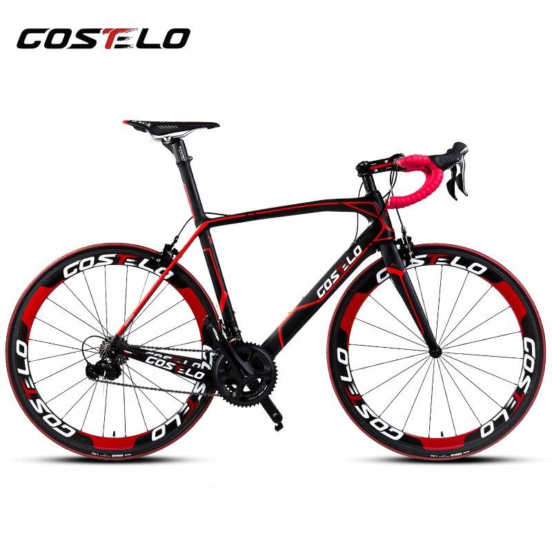 Costelo Cento 1 SR Road bicycle Carbon fiber complete bike carbon frame,handlebar,stem,carbon wheels 50mm 6 level Groupset bici