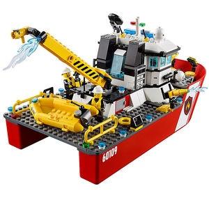Image 3 - النار قارب مدينة النار 60109 اللبنات الطوب نموذج لعب للأطفال طفل هدية 461 قطعة