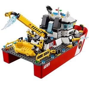 Image 3 - Yangın tekne şehir yangın 60109 yapı taşları tuğla modeli oyuncaklar çocuk çocuk hediye 461 adet