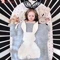 Новый Новорожденный мультфильм кролик ребенка пеленать диван бросить одеяло Трикотажные детские одеяла ручной работы шерстяные смешанное мягкая постельные принадлежности одеяло