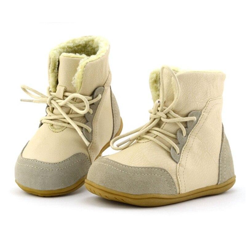 Botas de nieve de tobillo de retazos para niños botas de encaje de tela de algodón para niñas botas cálidas de punta redonda para niños AA51212 - 2