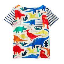 Baby Girls Clothes 2018 Brand Baby T-shirt Kids Clothing Animal Pattern Girls Summer Tops Tees 100% Cotton Children T shirts