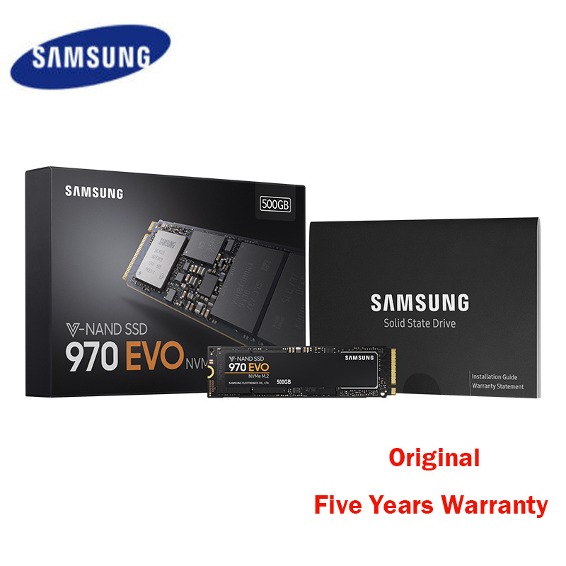 Samsung Original 250GB 500GB SSD 970 EVO Hard Drive SSD M2 250 GB 500 GB M.2 NVME Disque Dur for Notebook Laptop 240GB 2280 PCIe