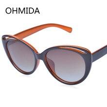 OHMIDA Nueva Moda gafas de Sol Polarizadas Mujeres Gafas de Sol de Diseñador de la Marca Vintage Retro Cat Eyes Gafas de Sol Chicas Gafas de Sol