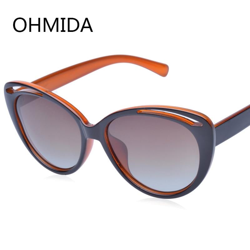 OHMIDA jaunās modes polarizētās saulesbrilles sievietes saulesbrilles zīmola dizainers Vintage Retro kaķu acis Saules brilles Meitenes Gafas De Sol