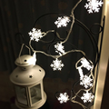 20 LED Solar Power Snowflake Garden String Lights Lamp For Christmas Wedding Party Holiday Decoration