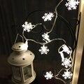 20 LED de Energía Solar Jardín Lámpara de Luces de la Secuencia del Copo de nieve Para El Banquete de Boda de Navidad Decoración de Vacaciones