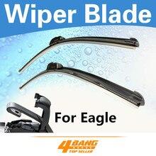 2PCS Car-Styling 18″+22″ AERO Soft Rubber Wiper Blades Windshield Wipers Bracketless Frameless For Eagle Summit 1992-1996