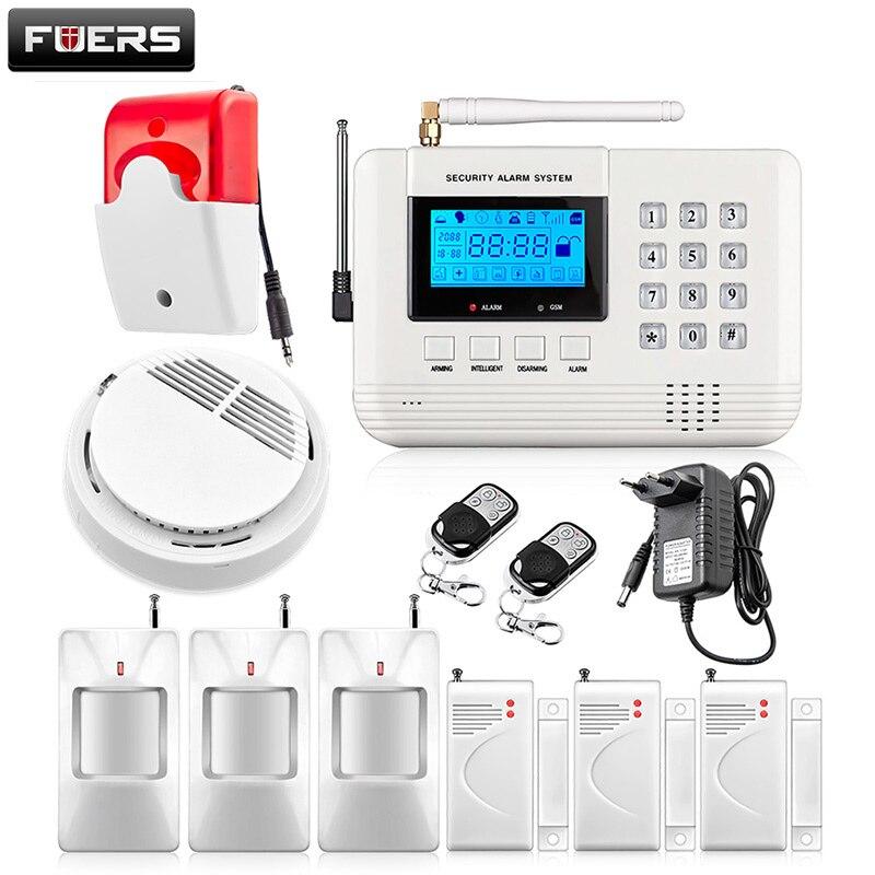 New 99 Wireless Zones PSTN Phone landline Security Burglar Smoke Alarm Secure House For intercom Protection