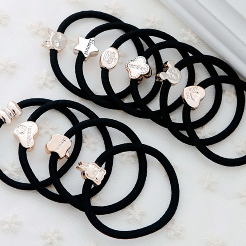 Girl's Accessories Motivated 30pcs/set Black Elastic Hairbands Accessories For Girls Fashion Women Hair Bands Girls Lovely Ponytail Holder Rubber Band Gum Girl's Hair Accessories