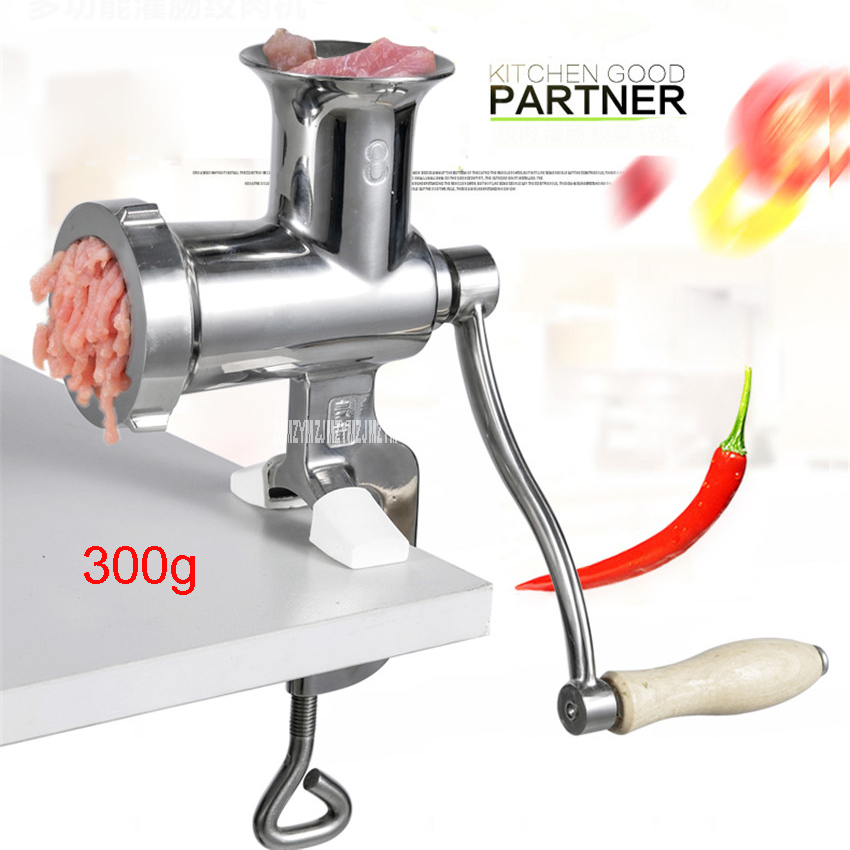 Number 8 Home manual 304 stainless steel meat grinder hand crushed meat chopped vegetables filling stuffing fragrant sausage brand new 8 manual meat grinder vegetables pelletizer filling sausage machine stainless steel kitchen meat mincer