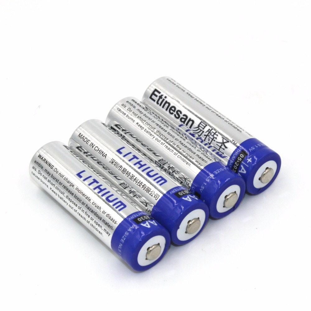 4pcs/lot Etinesan SUPER Powerful Lithium <font><b>1.5V</b></font> Powerful <font><b>AA</b></font> Single use <font><b>Batteries</b></font> Good price and quality.15-year shelf life image