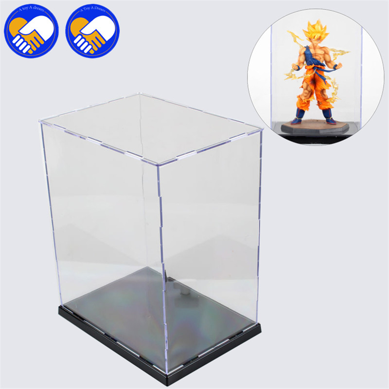 A TOY A DREAM New Brand 21*13*13Cm Clear UV Acrylic Plastic Display Box Dustproof PVC Action Figure Protection Showcase clear acrylic a3a4a5a6 sign display paper card label advertising holders horizontal t stands by magnet sucked on desktop 2pcs