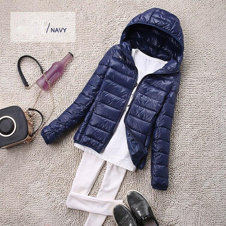 SEDUTMO Winter Plus Size 4XL Womens Down Jackets Short Ultra Light Duck Down Coat Hooded Puffer Jacket Autumn Parkas ED034 9