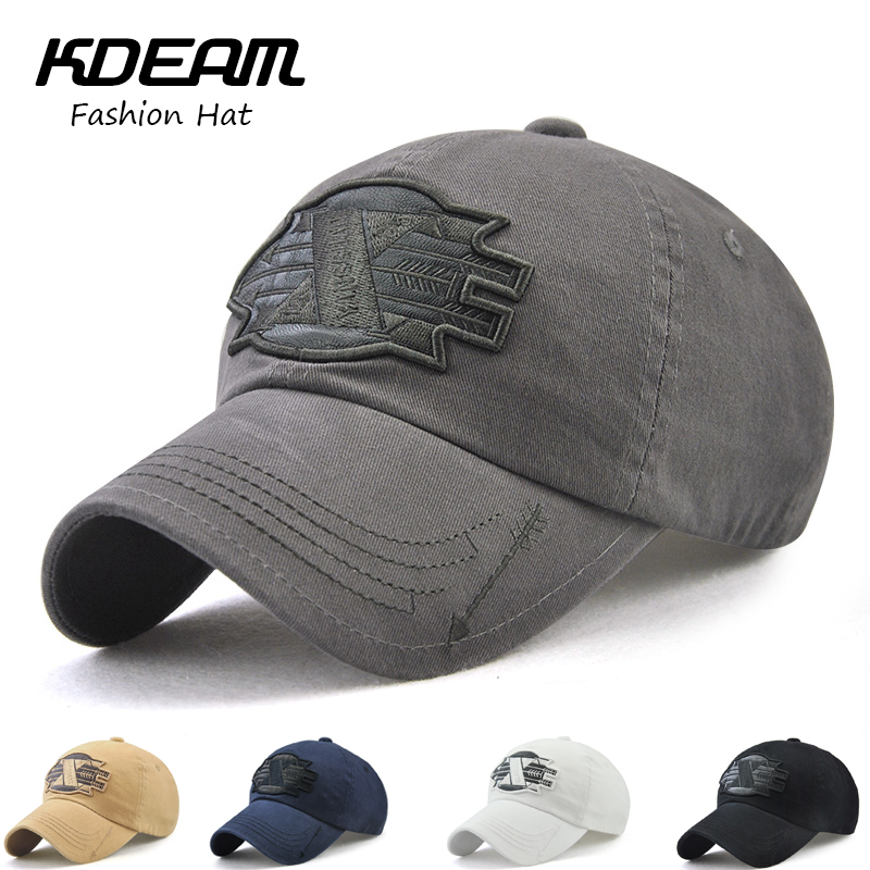 KDEAM Brand 2018 New Arrival Summer   Caps   3D Embroidery desginer fashion men Flat   Baseball     Cap   women Beach hat 5 colors 79821