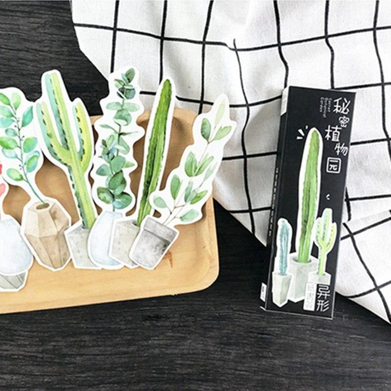 Купить с кэшбэком 10 set/Lot Secret botanical garden bookmark Green plants flower paper book marks Office School supplies marcador de livro FC751