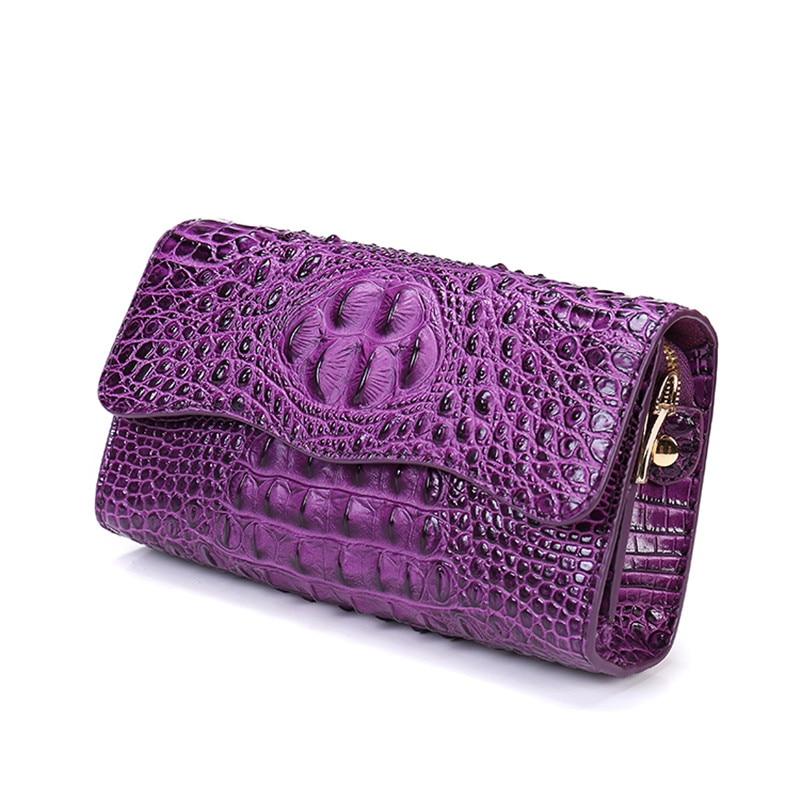 2017 New Women Aligator Designer Flap Messenger Crossbody Genuine Leather Bags Single Shoulder Handbag Flap Chains Bag Clutch