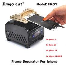 إطار شاشة LCD يتم فصله عن لوحة تسخين الجهاز يدويًا لفصل الإطار لأجهزة iPhone 11 XS pro max XR X 8 7 p إصلاح إطار شاشة LCD