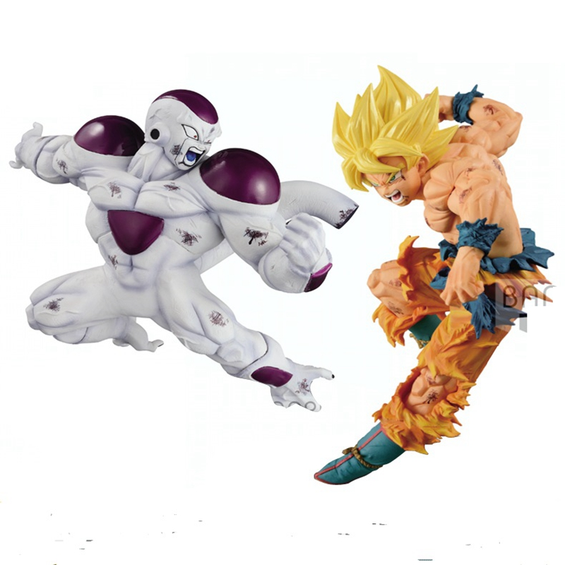 WSTXBD BANPRESTO Original Dragon Ball Z DBZ Match Makers SSJ Goku VS Freeza Action Figure Toys Figurals Model Kids Dolls wstxbd banpresto original dragon ball z dbz smsp goku manga color pvc figure toys figurals model dolls brinquedos