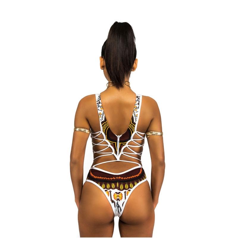 a63cb8fbeaf91 FIGOBELL African Printed Swimwear One Piece Swimsuit 2018 Women High Cut  Trikini Thong Monokini Brazilian Plus Size Bathing Suit