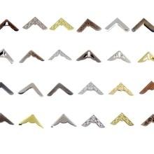 12 шт бронзовые/Серебристые/бронзовые варианты больше стильных книг Скрапбукинг Альбомы меню папки Угловые протекторы