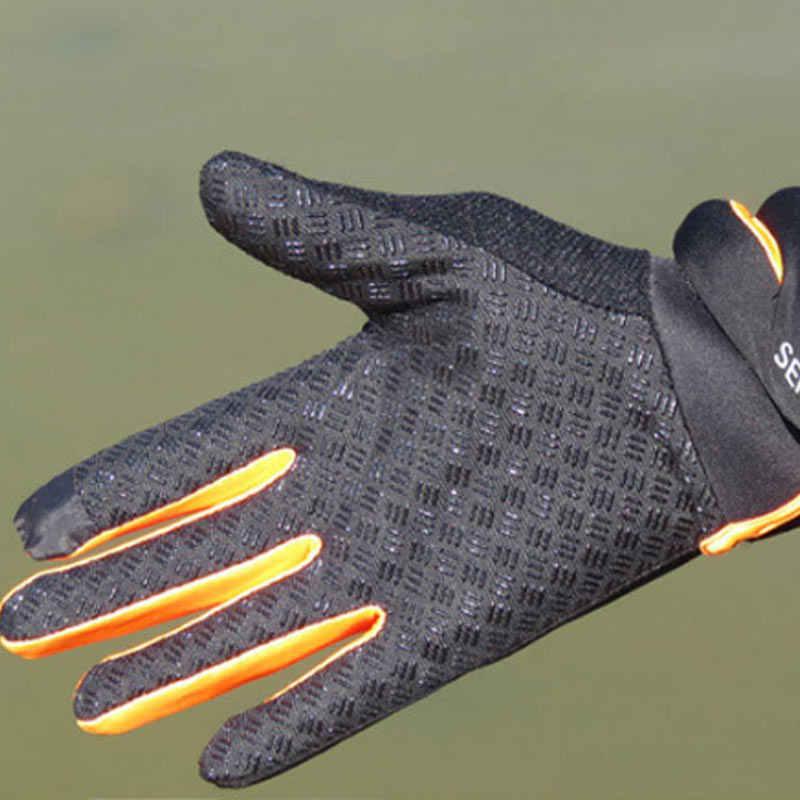 1 par de bicicleta luvas de dedo cheio touchscreen men women mtb luvas respirável verão luvas als88