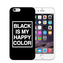 Black is My Happy Color TV Series Skam Soft TPU Phone Case For iphone 6 6s Plus 5s SE Letter Cover For iphone 7 Plus Case Cover(China)