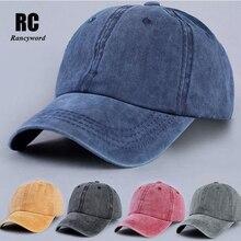 [Rancyword] Women's New Letter Embroidery Cowboy hat Baseball Cap Sanpback Hats For Women Denim Jeans hat Hip Hop RC1049