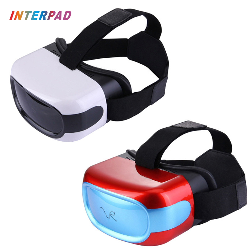 2017 Interpad New Virtual Reality Glasses 3D HD VR All In One Headset Home Cinema With WIFI G-sensor Quad Core 3D Video Play VR