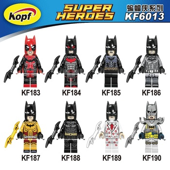 KF6013 Singe Sale Super Heroes Kiss Vacation Golden Tartan Joker Excalibur Fairy Catwoman Movie Building Blocks Kids Gift Toys tartan