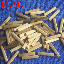 M2*17 1Pcs Brass Spacer Standoff 17mm Female To Standoffs column cylindrical High Quality 1 piece sale