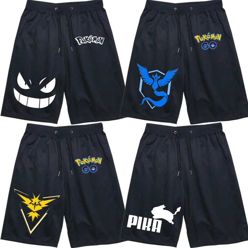 Men Women Jogger Fitness Short Pants Pokemon Sports Breathable Casual Gengar Sweatpants High Quality Workout Shorts Comfortable