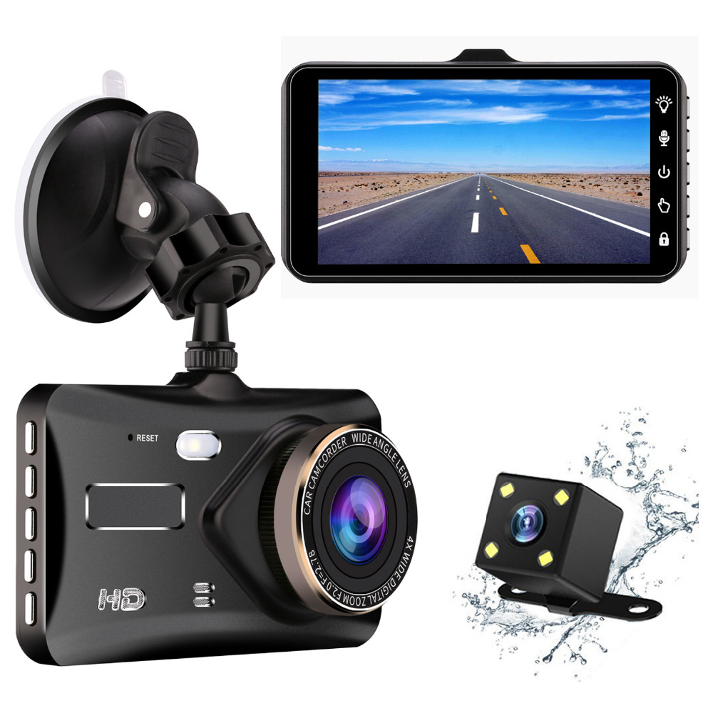 Dash Cam Car dashboard Camera 4 Screen,170 Degree Wide Angle,Full HD 1080P, Vehicle On-dash Video Recorder Camcorder ...