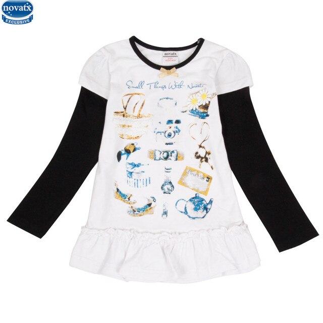 1b4998694e889f 2-6y nova kinder mädchen t-shirts süße kleidung mit blume märchen gedruckt  China