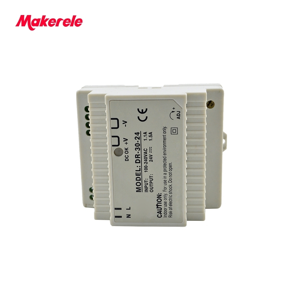 DR series slide 30w CE single output Din rail Switch Power Supply Driver Switching For LED Strip Light Display Free Shipping