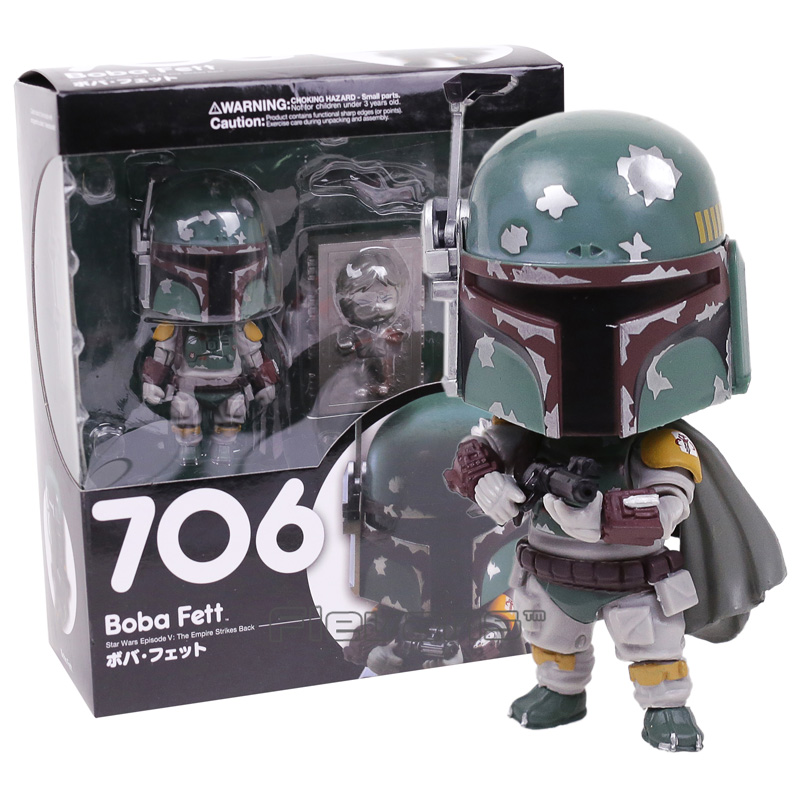 Nendoroid Star Wars Episode V The Empire Strikes Back Boba Fett 706 PVC Action Figure Collectible Model Toy movie figure 16 cm star wars revo 005 boba fett pvc action figure collectible model toy brinquedos christmas gift