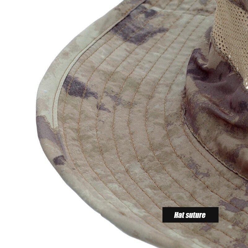 camuflagem caça chapéu viagem sun cap caminhadas balde estilo pescador chapéus