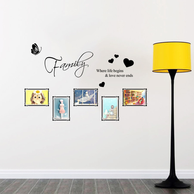 Online Shop Diy Carved Frame English Stickers Self Adhesive Custom - Custom vinyl wall decals removal options